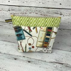 Art Supply Bag Cosmetic Bag Art Supply Pouch Art by AuntHenri
