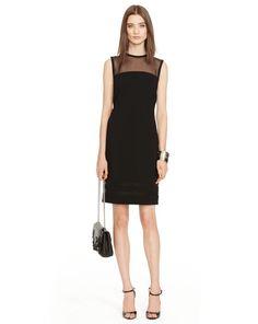 Silk-Paneled Aidan Dress - Black Label  Short Dresses - RalphLauren.com