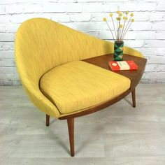 Mid Century Modern Porn:  Phone seat and table made by Chippy Heath of Britain in the 1960's.  Courtesy of MCM Reviva...