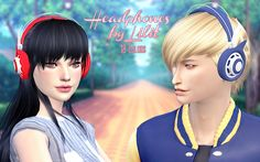 Lana CC Finds - lilit666-posts:   TS4-Headphones by Lilit  - For...