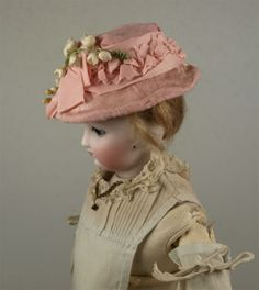 Beautiful Antique Wire Hat for French Fashion Doll