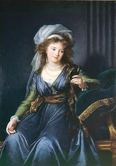 """As Vigée Le Brun recalled Countess Skavronskaya (1761–1829): """"She was utterly idle all day, she had no education, and her conversation was quite empty. But in spite of all that, thanks to her lovely face and her angelic sweetness, she had an incomparable charm"""