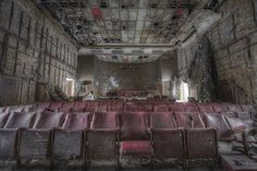 Image: Urban Exploration (© Niki Feijen)-On with the show - inside an abandoned cinema.