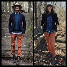 Flannel Foxes Tomboy Fashion Blog - Follower Friday. Hack your favourite men's… Chinos And Blazer, My Vibe, Tomboy Fashion, Androgyny, Work Wear, Flannel, Menswear, Plaid, Foxes