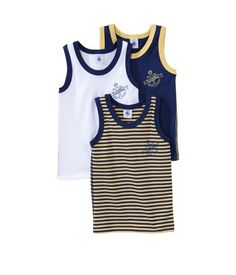 Pack of 3 Boy's Vests from Petit Bateau | £25 | BUY AT PETIT-BATEAU.CO.UK (located by e-tailtherapy.com - the best guide to online shopping)