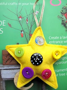 Christmas Decoration 1 Sherbet Star x dipped in by SnowFish, £4.50