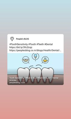 Tooth Sensitivity, Dental, Teeth, Articles, Thoughts, Blog, Tooth, Blogging, Dentist Clinic