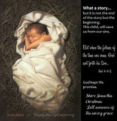 """May we be filled with the urgency to """"tell"""" this season.  Not to be silent of the good news of salvation which comes in the form of a babe in a manger...   Jesus saves."""