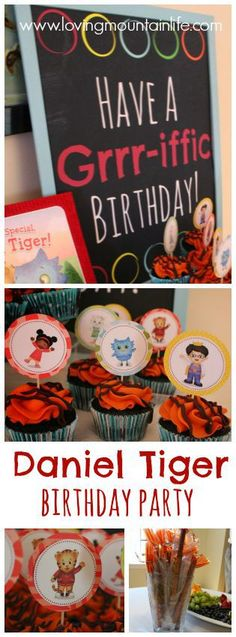 Daniel Tiger Birthday Party from Loving Mountain Life