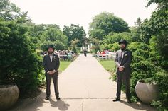 Garden wedding, complete with bearded ushers  (brothers)- Photo By McConville Studio