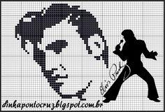 Elvis Presley x-stitch Cross Stitching, Cross Stitch Embroidery, Cross Stitch Patterns, Plastic Canvas Crafts, Plastic Canvas Patterns, Elvis Presley, Intarsia Patterns, Cross Stitch Animals, Filet Crochet