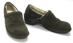 BOC Born 8.5 40 Peggy Moss Green Suede Closed Back Clogs Slip On Shoes BC 8554 #Brn #Clogs #Casual