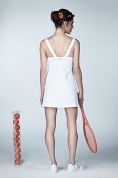 White Wimbledon inspired Tennis Dress from Ivincia Tennis Shorts, Tennis Clothes, White Tennis Dress, Wimbledon Tennis, Independent Women, Princess Seam, Textile Design, Model, How To Wear