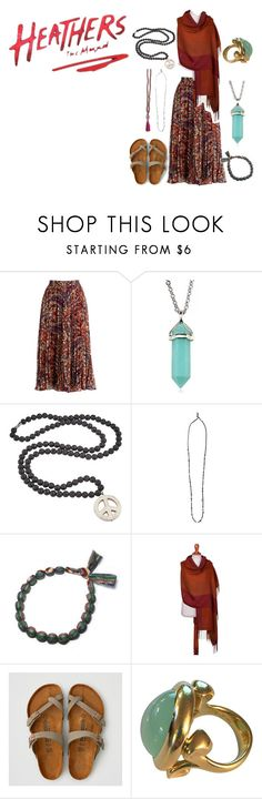 """Untitled #164"" by kimmyanelson on Polyvore featuring Haute Hippie, Helix & Felix, Yves Saint Laurent, NOVICA and American Eagle Outfitters"