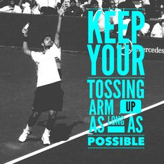 Golf Ladies Tips Simple Tennis Tip - Keep Your Tossing Arm Up on Your Serve Tennis Rules, Tennis Gear, Tennis Tips, Tennis Clothes, How To Play Tennis, Tennis Serve, Tennis Lessons, Tennis Equipment, Tennis Workout