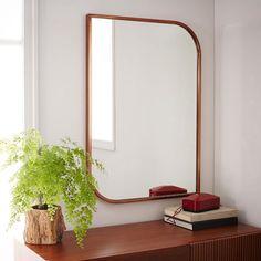 Metal Framed Wall Mirror - Rose Gold   West Elm