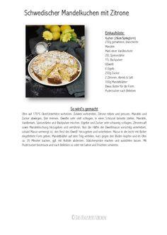 Schwedischer Mandelkuchen mit Zitrone-001 Paleo Food List, Food Lists, Paleo Recipes, Paleo Dessert, Almond Cakes, Gluten Free Cakes, Paleo Breakfast, Convenience Food, Yummy Cakes