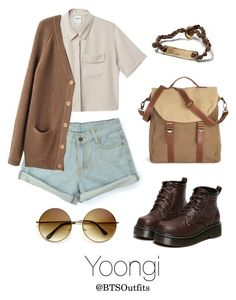 """""""Picnic Date with Yoongi"""" by btsoutfits ❤ liked on Polyvore featuring Banana Republic, Monki, Le Mont St. Michel and WithChic"""