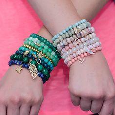 Have a colorful charming Saturday. #stretchbeadbracelets #superstacksaturday #fun ##diamondcharms #charmbracelets #cherrycreeknorth #jewelryaddict #instajewels #sydneyevan #osterjewelers #osterjewelers.com