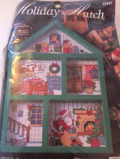 "Vintage Holiday Hutch ""Twas the night"" cross stitch #33487"