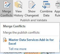 Tip of the Day - How to Merge a Conflict in SQL Server 2016 Master Data Services