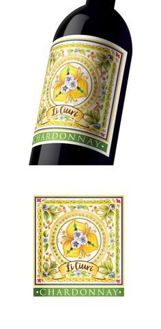 Hand painted, watercolor illustration for a chardonnay wine label. Design by Urukova. Label Design, Logo Design, Graphic Design, Watercolor Design, Watercolor Illustration, Chardonnay Wine, Product Label, Wine Label, Watercolor Techniques