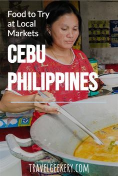 Discover the best street food in Cebu, Philippines. Delicious Filipino street food - more than just the famous balut or lechon. Authentic street food options that will make you fall in love with Cebu food and people. Visit a typical local street food market and enjoy Filipino food that cannot be found elsewhere. #streetfood #foodie #philippines #cebu #travelgeekery Filipino Street Food, Filipino Food, Street Food Market, Best Street Food, Philippines Cebu, Philippines Travel, Lechon, Cebu City, Culture Travel