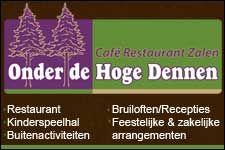 Wij heten Café-Restaurant-Zalen Onder de Hoge Dennen van harte welkom op Koopplein Midden-Drenthe. Onder de Hoge Dennen met kinderspeelhal en sfeervolle zalen voor uw zakelijke en feestelijke gelegenheden. Elke zaal heeft zijn eigen bar, geluidsinstallatie en sfeer. Of het nu gaat om een gezellig familiefeest een spetterende bruiloft of een super bedrijfsfeest, zij bieden vele mogelijkheden. http://koopplein.nl/middendrenthe/huis-en-inrichting