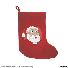 Santa Claus Cartoon Small Christmas Stocking