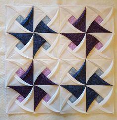 Pinwheel Surprise Folded Fabric Quilt Block | Craftsy