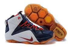 7dd0d5da4320c WMNS LeBron 12 GS XII USA Independence Day White University Red Obsidian  Pure Platinum New Jordans