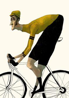 made by: Sedat Girgin , Illustration (Cycling)