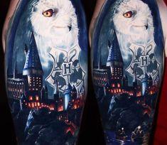 Hogwarts tattoo by Ben Ochoa
