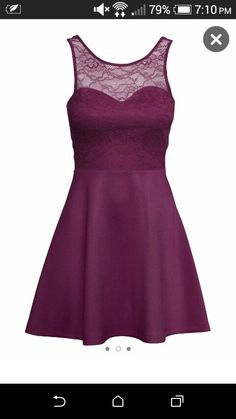 Purple dress from H&M