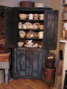I ADORE a cabinet filled with stoneware..that you actually use!