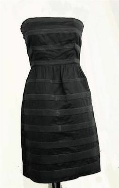 J Crew Strapless Bodycon Dress Gray Striped Size 2 100 Cotton Boning Bodice   eBay
