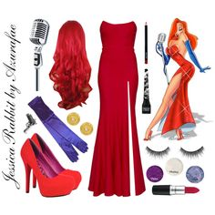 Jessica Rabbits Costume .. Rachel Gilbert gowns, Dollhouse pumps and Club Manhattan rings