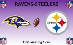 1996, National Football League (1st RAVENS-STEELERS), Baltimore Ravens < > Pittsburgh Steelers #Ravens #Steelers #NFL (L24336) Football Rivalries, Sports Logos, Baltimore Ravens, National Football League, Pittsburgh Steelers, Nfl, Logo Design, National Soccer League