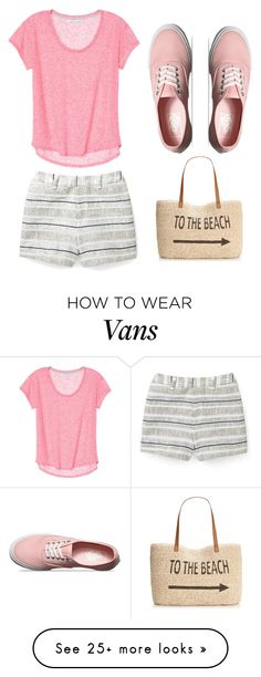 """To the Beach"" by jjwahlberg on Polyvore featuring Rebecca Minkoff, Vans and Style & Co."