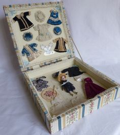 French Antique Little Mignonette Doll Biscuit in Its Case Trousseau | eBay