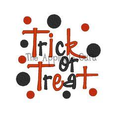 Trick or Treat -- Machine Embroidery Design