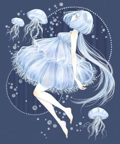 anime girl as jellyfish @Christina Childress Childress Childress Shutt