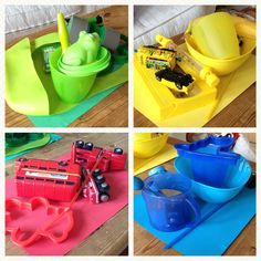 Colour sorting game for toddlers and pre-schoolers