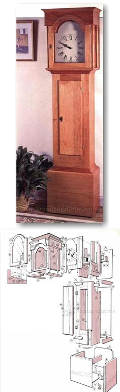 Shaker Tall Clock Plans - Woodworking Plans and Projects | WoodArchivist.com