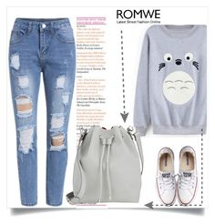 """""""ROMWE V/3"""" by amra-mak ❤ liked on Polyvore featuring Converse, Proenza Schouler, women's clothing, women, female, woman, misses, juniors and romwe"""