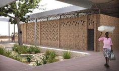 Cortesía de Jaklitsch/Gardner Architects Tanzania, Architectural Pattern, Low Cost Housing, Brick Detail, Natural Building, Education Center, Interior Design Magazine, Architecture Plan, Architect Design