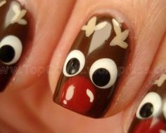 Except I'd do this with the rest of my nails painted red.