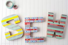 101 Uses for Washi Tape: #88 DIY decor letters!