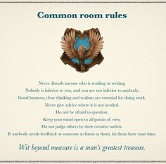 ravenclaw house rules