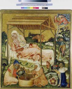 Meister d.Altars von Hohenfurth - Natività - 1350 ca. - Prag, National (Narodni) Galerie